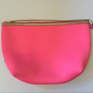 Lilly Pulitzer bright pink with gold neoprene bag